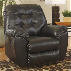 Signature Design by Ashley Alliston DuraBlend® - Chocolate Rocker Recliner