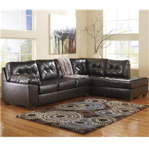 Signature Design by Ashley Alliston DuraBlend® - Chocolate Left Facing Sectional