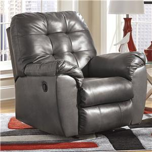 Signature Design by Ashley Alliston DuraBlend® - Gray Rocker Recliner