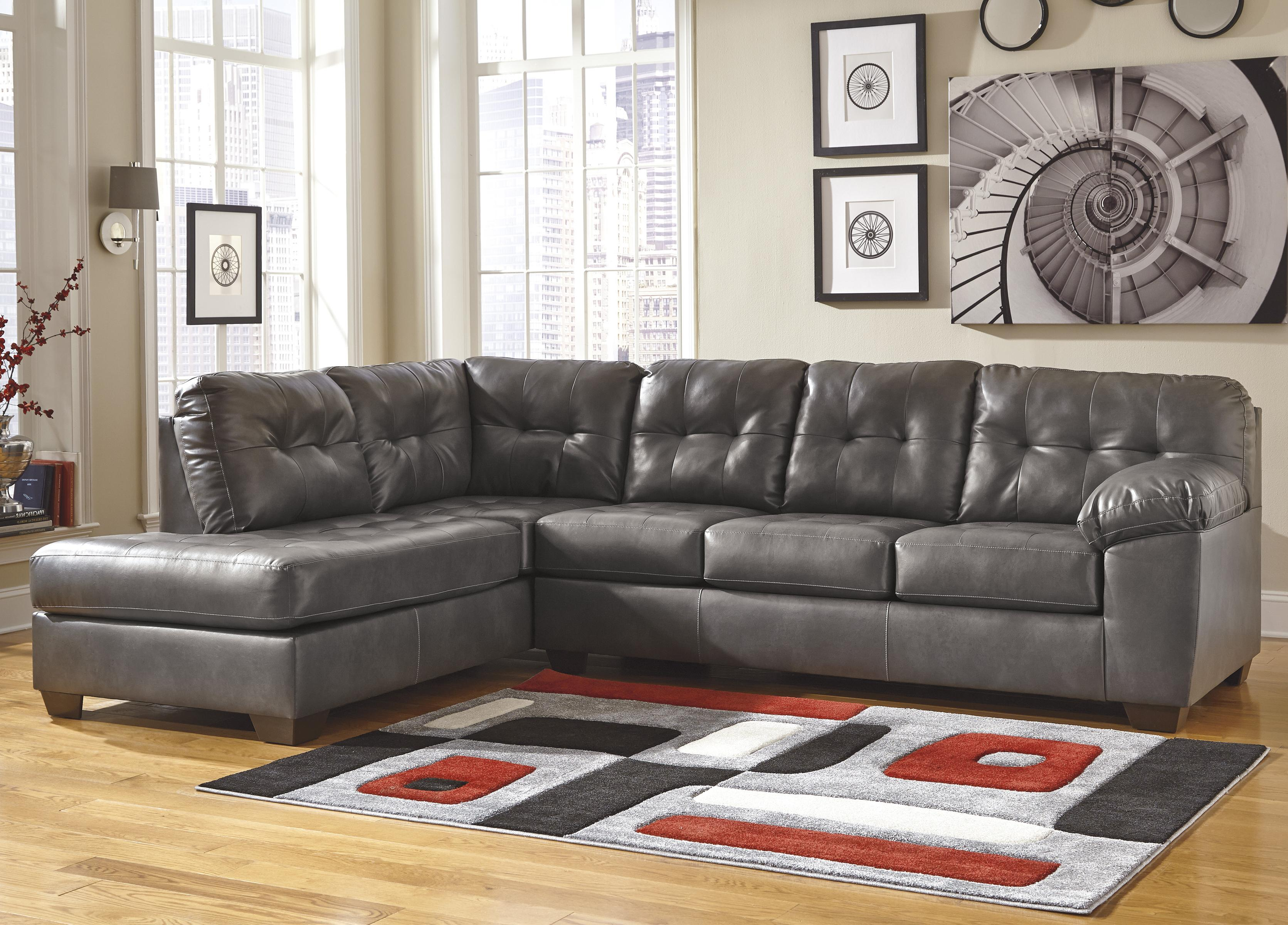 Faux Leather Sectional W Left Chaise Amp Tufting By