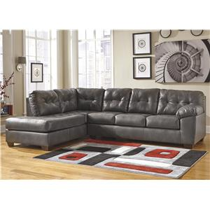 Signature Design by Ashley Alliston DuraBlend® - Gray Right Facing Sectional