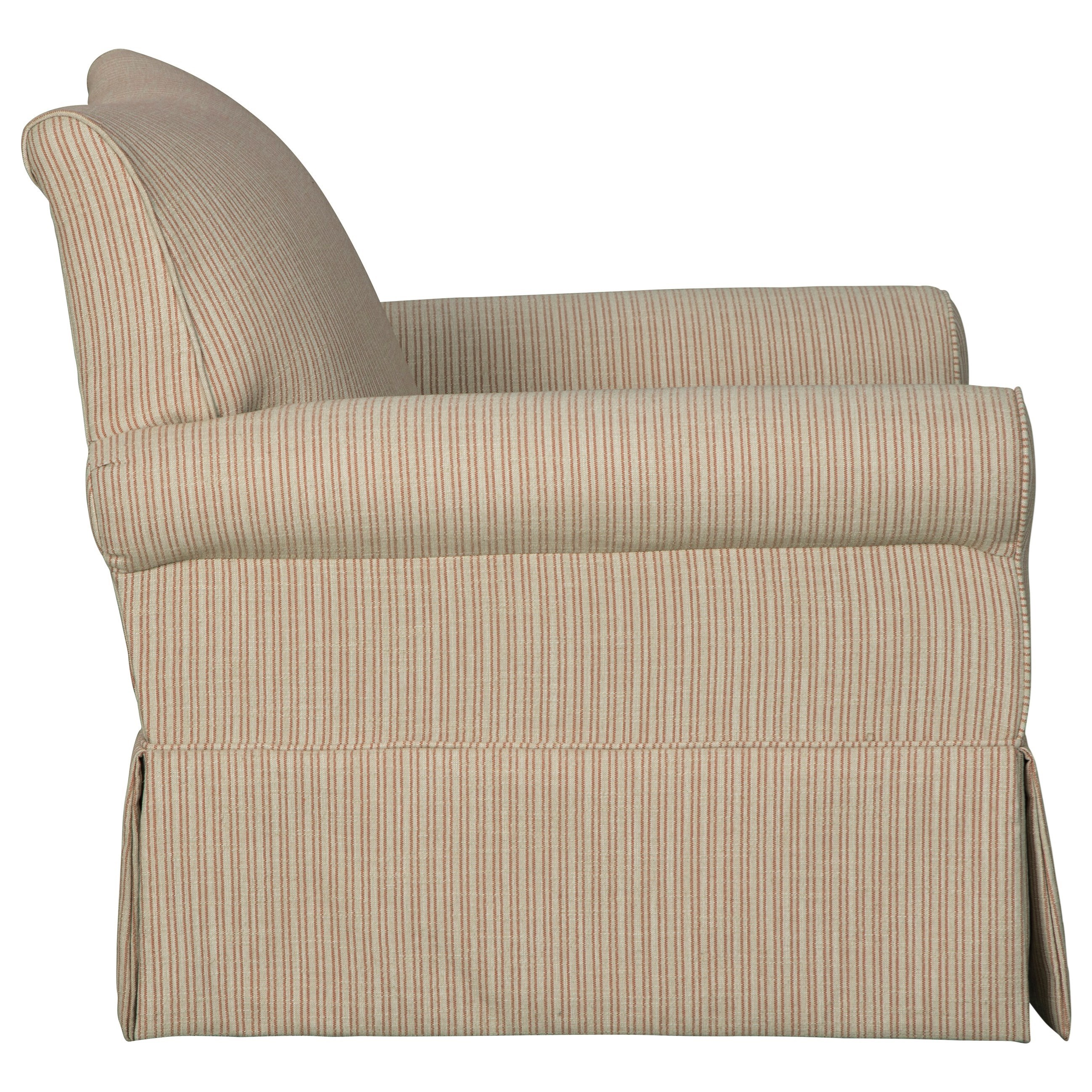 Swivel Glider Accent Chair With Skirted Base By Signature