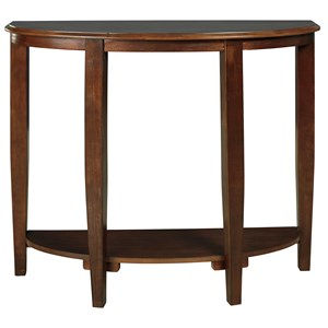 Demilune Console Sofa Table with Shelf
