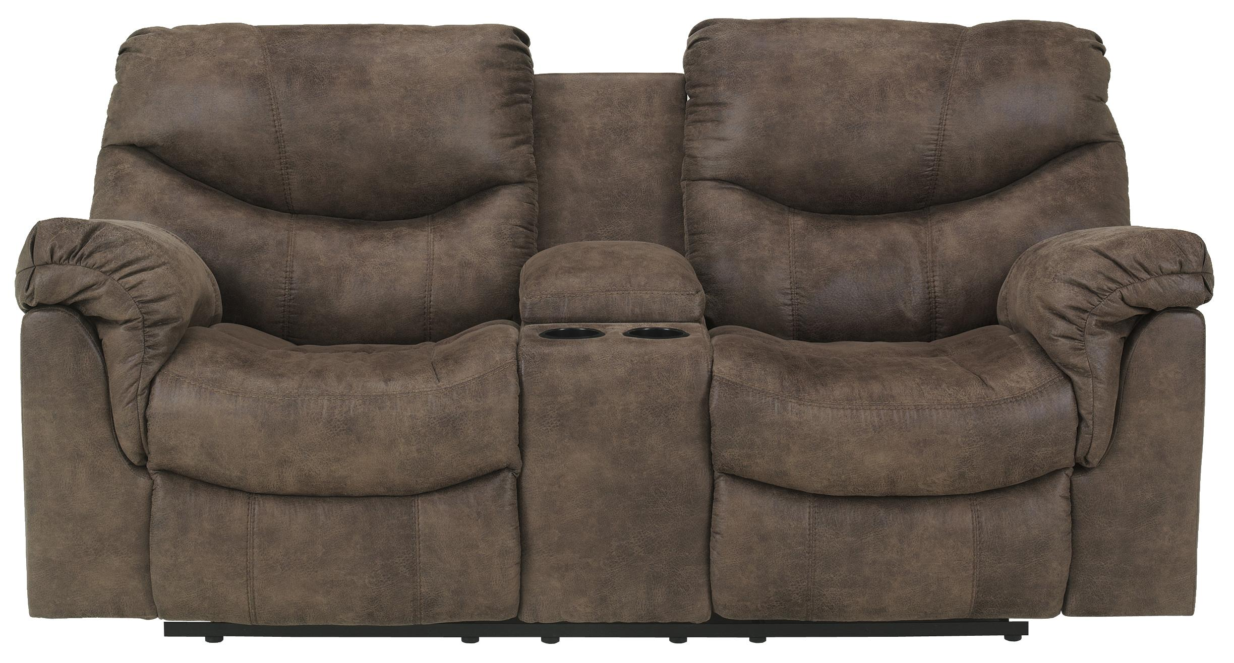 Double Reclining Loveseat With Console By Signature Design