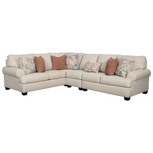 3-Piece Sectional with Rolled Arms