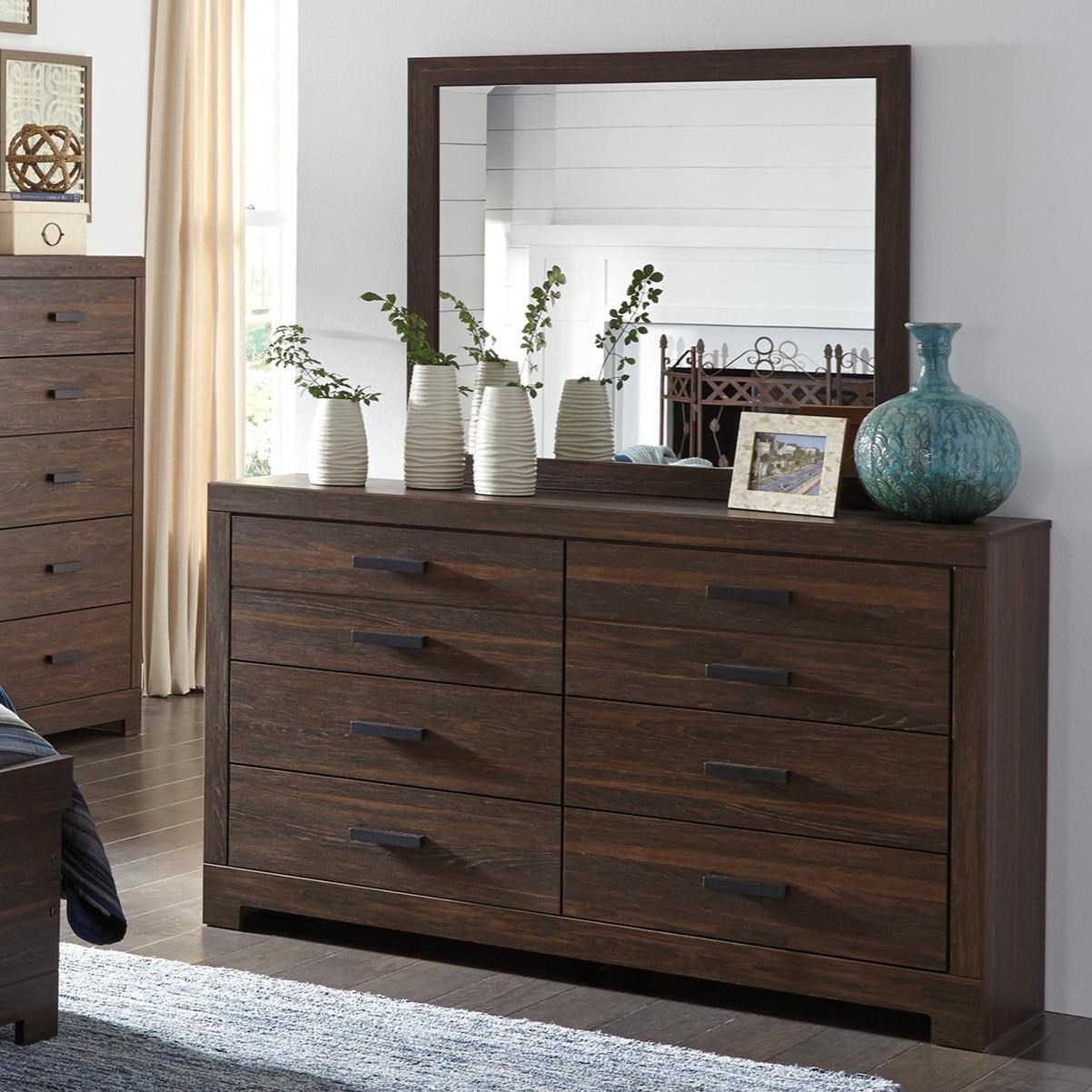 Modern Rustic Dresser & Bedroom Mirror by Signature Design by Ashley ...