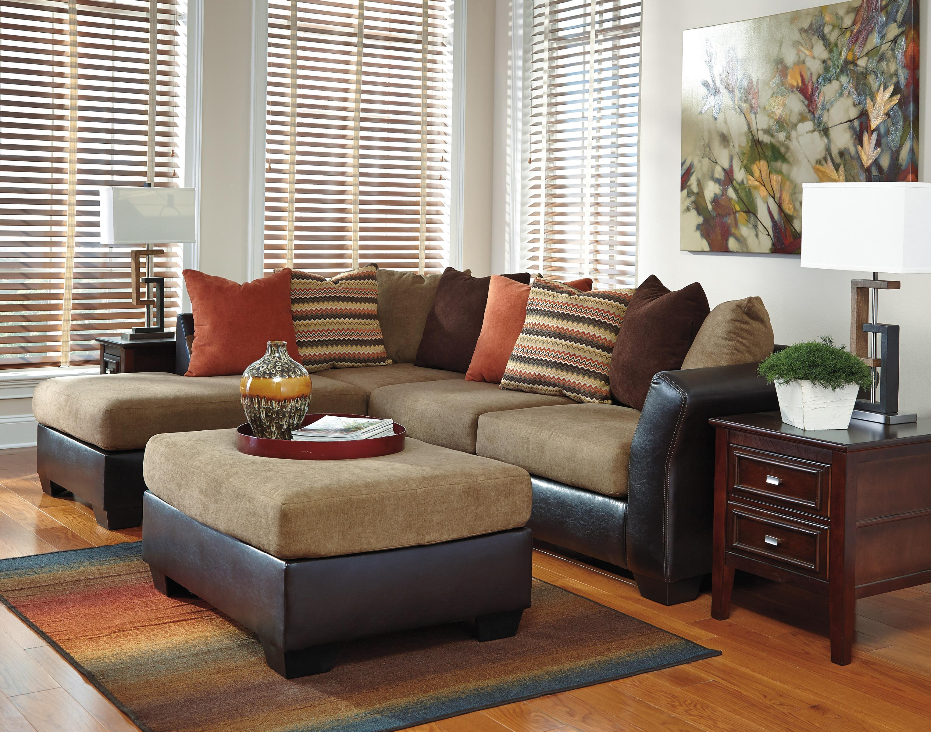 2 piece sectional with left chaise with loose b