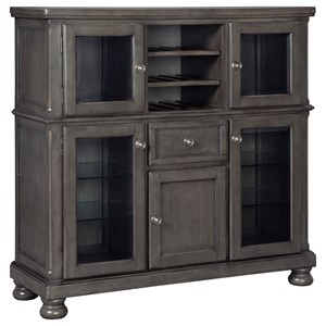 Transitional Dining Room Server with 12-Bottle Wine Rack