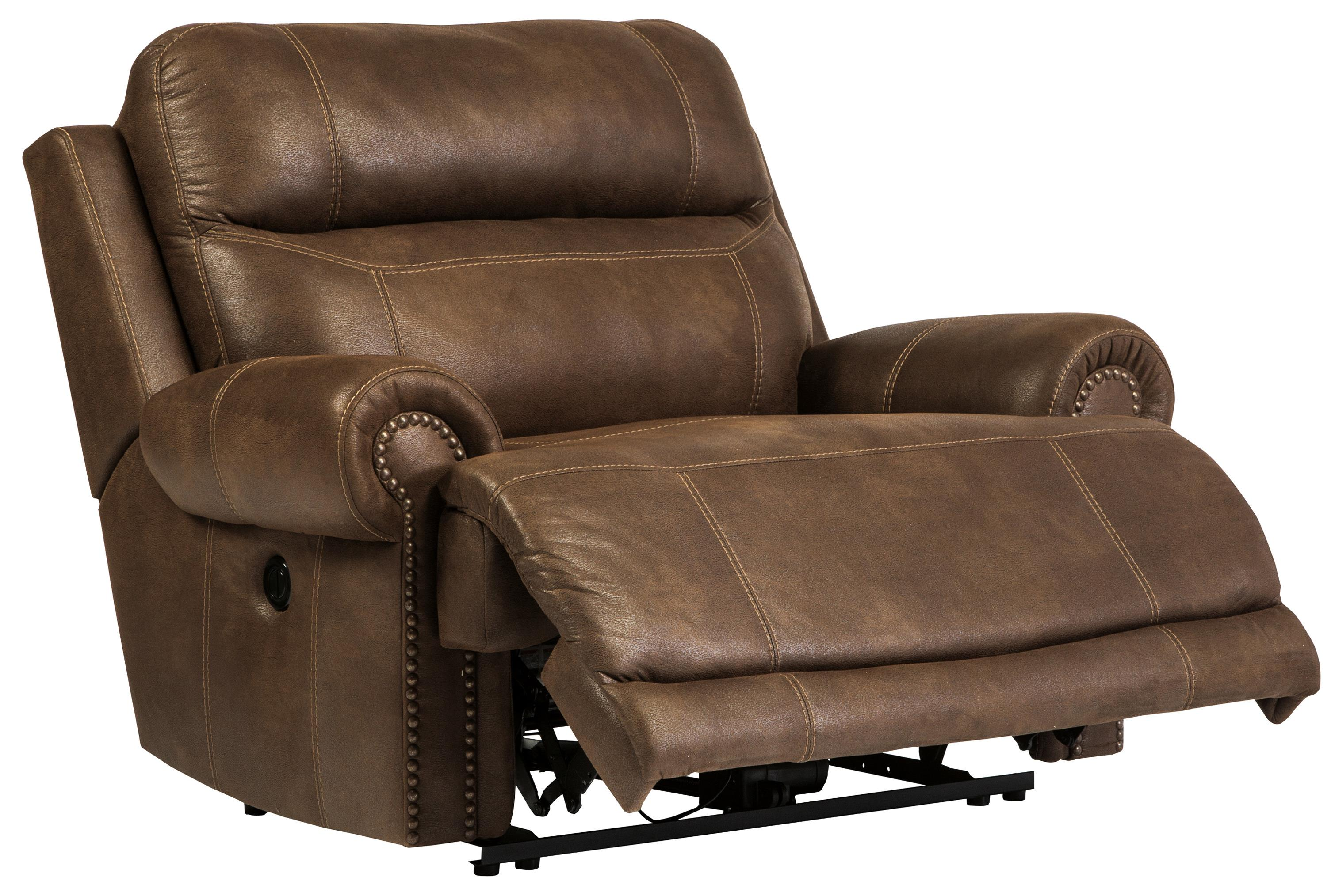 Zero Wall Power Wide Recliner With Rolled Arms Amp Nailhead