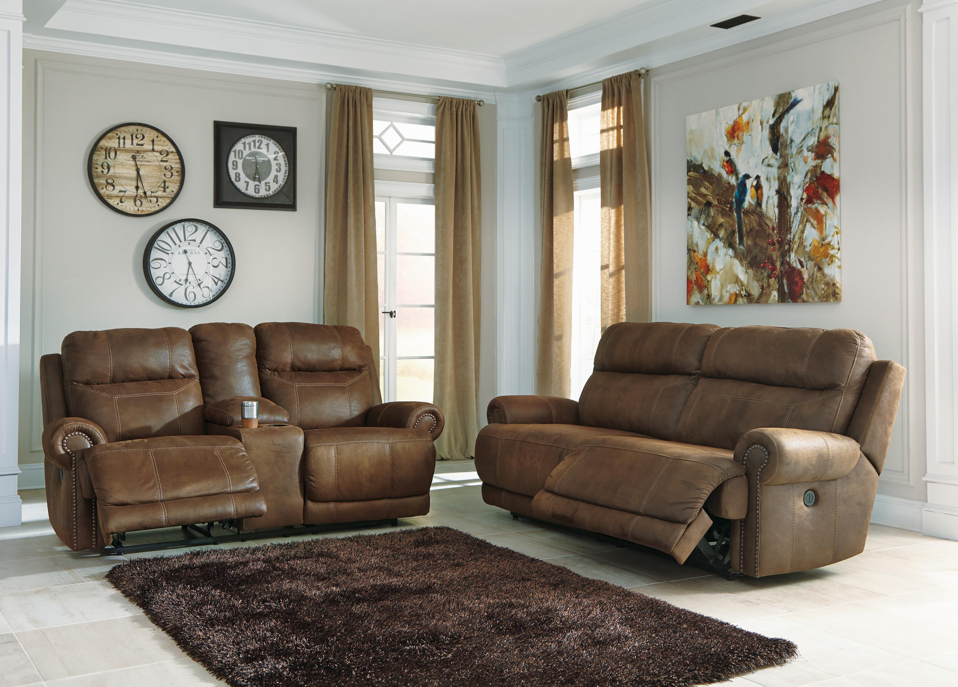 Double Reclining Loveseat W Console Power By Signature