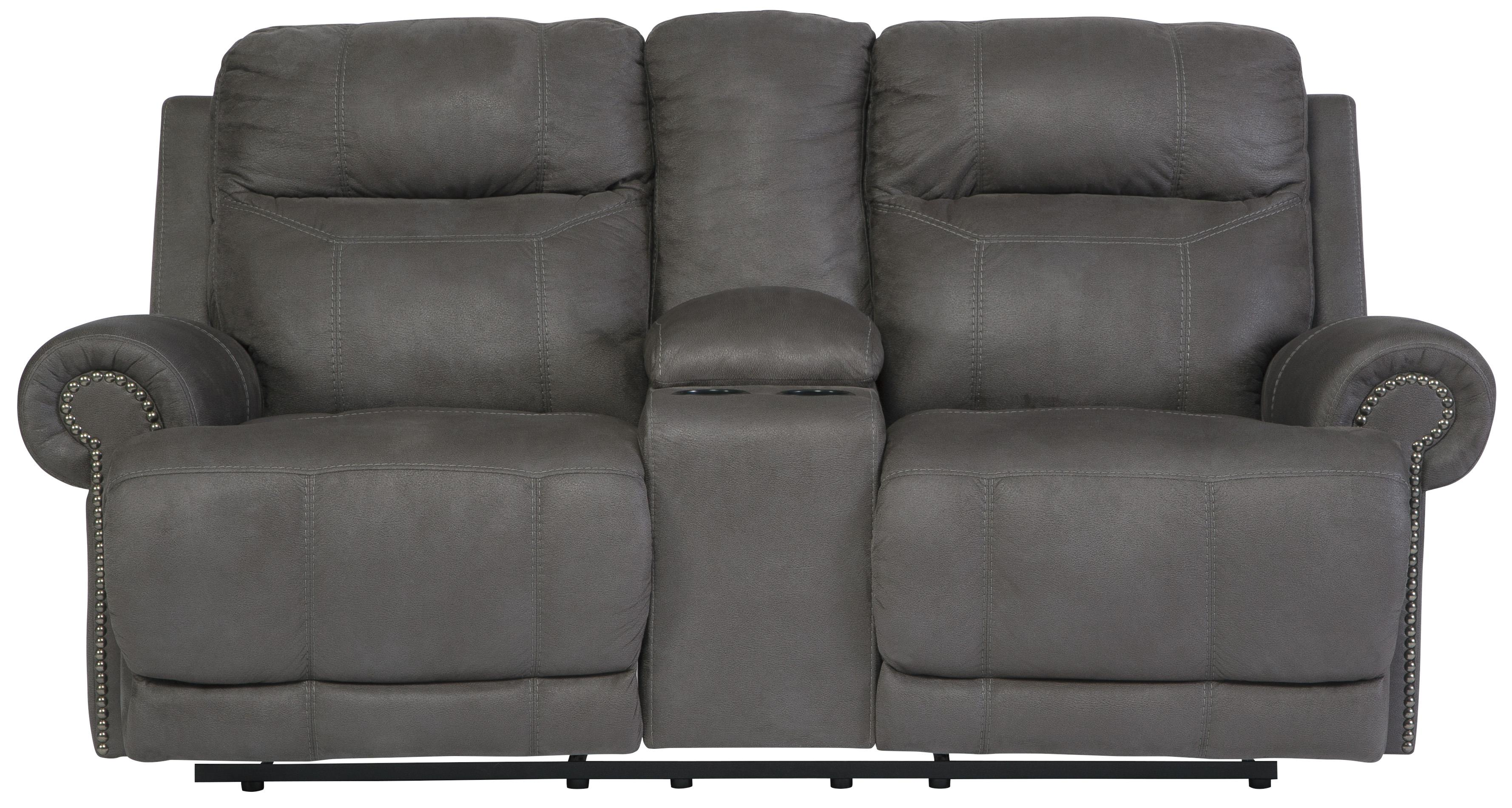 Double Reclining Loveseat W Console Amp Power By Signature