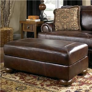 Traditional Ottoman with Bun Wood Feet