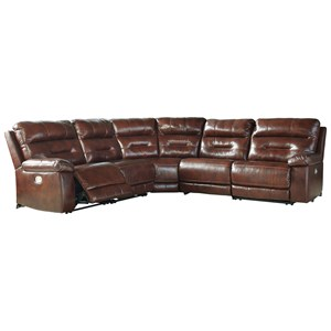 Casual Power Reclining Sectional With Power Headrest