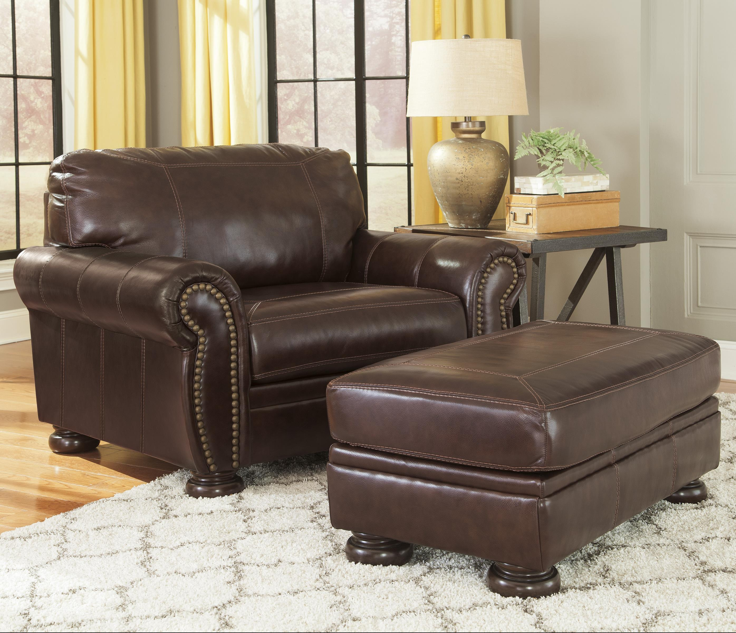 Strange Traditional Leather Match Chair And A Half Ottoman By Ibusinesslaw Wood Chair Design Ideas Ibusinesslaworg