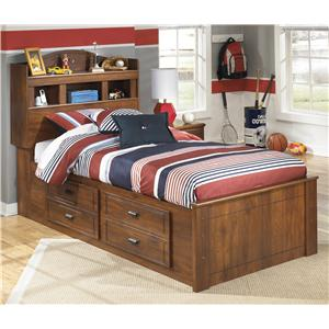 Twin Bookcase Bed with Underbed Storage