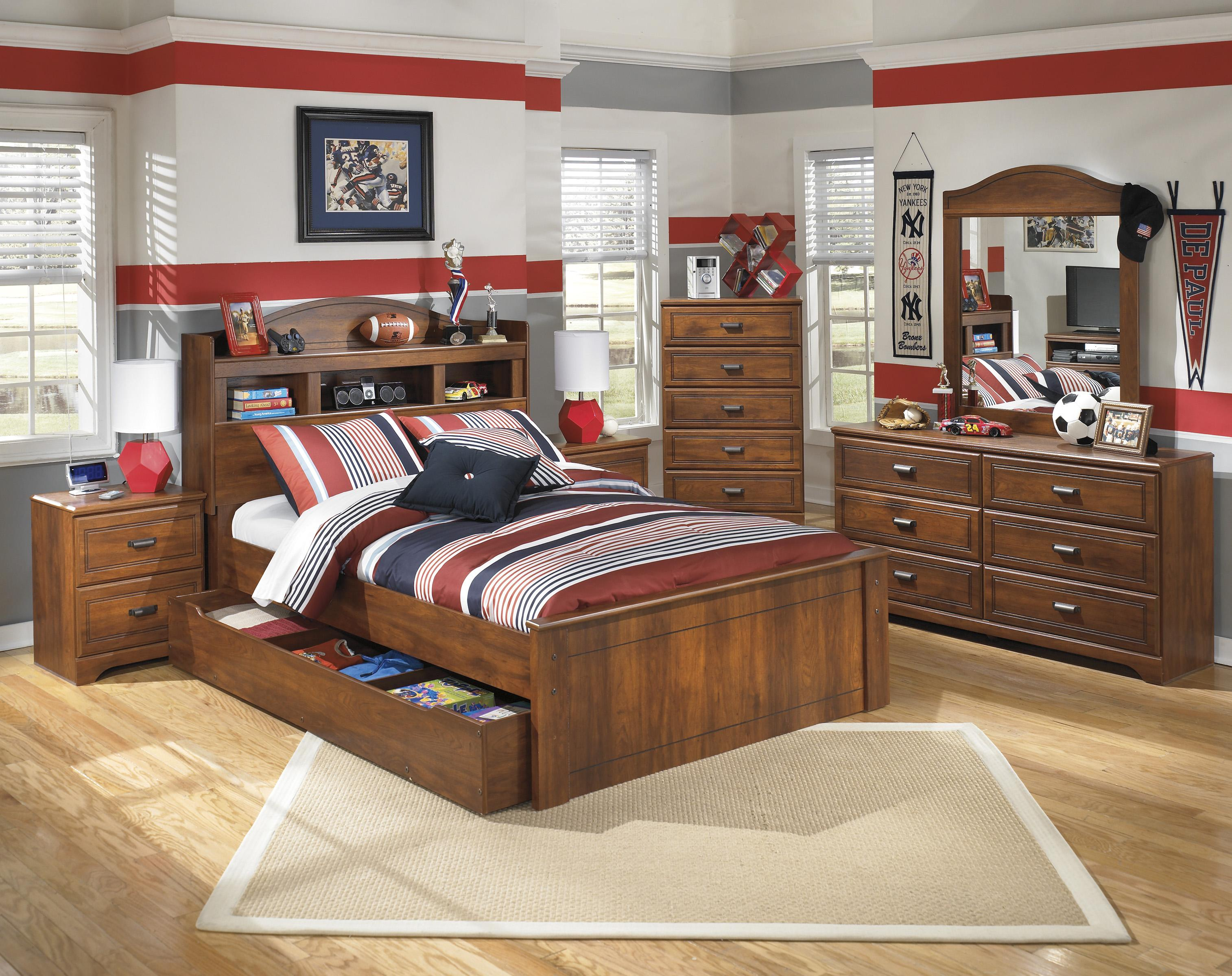 Full bookcase bed with trundle under bed storage unit by - Bed with storage underneath ...