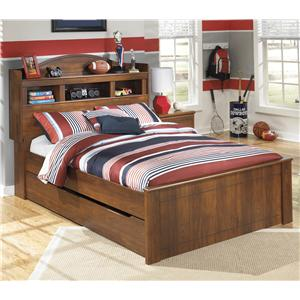Full Bookcase Bed with Trundle Under Bed Storage Unit