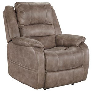 Faux Leather Power Recliner w/ Adjustable Headrest
