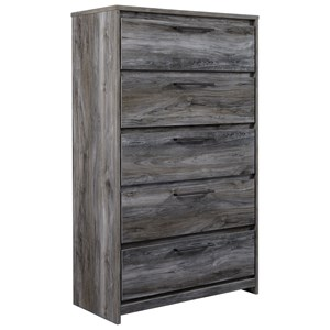 Contemporary 5-Drawer Chest of Drawers