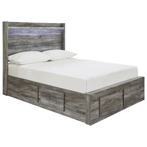 Full Storage Bed with 6 Drawers & Dimming LED Light