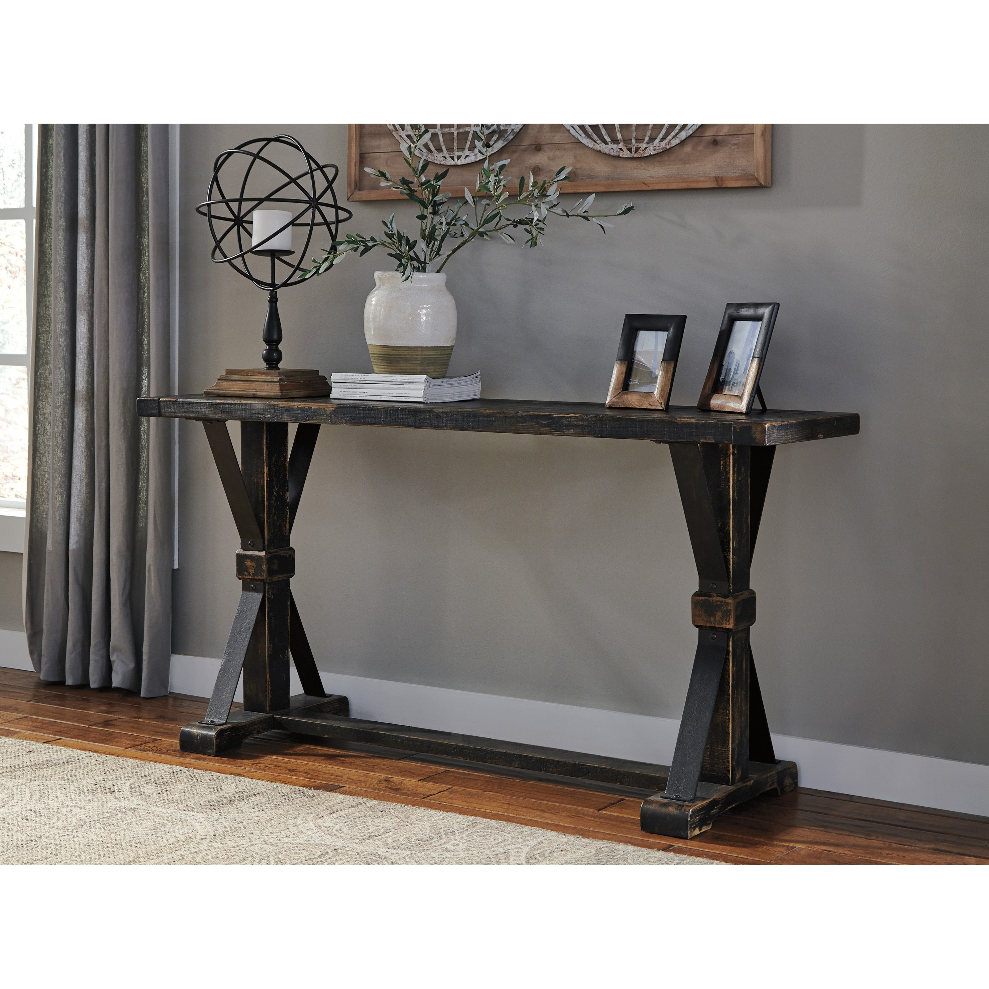 Rustic Farmhouse Style Sofa Table