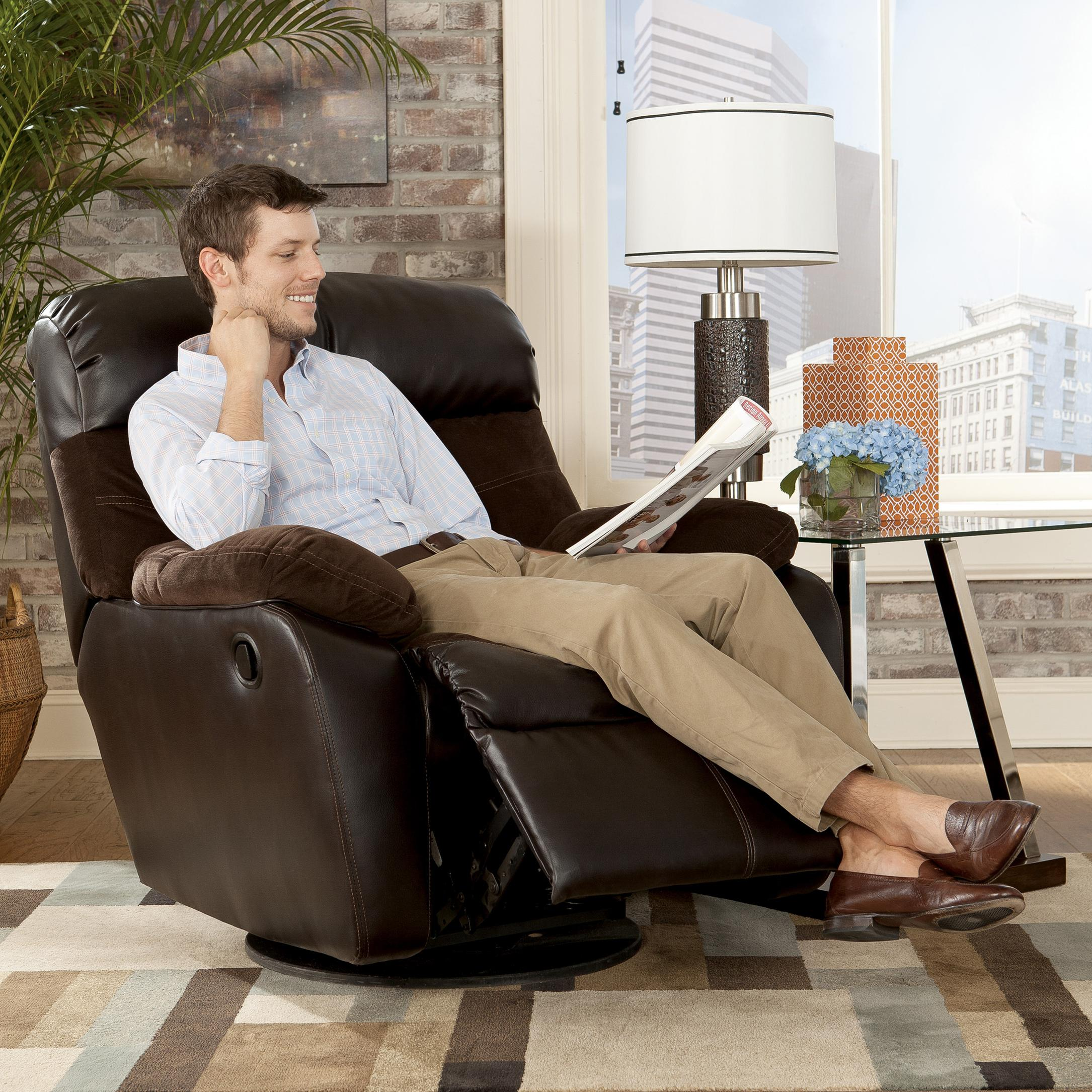 Swivel Rocker Recliner by Signature Design by Ashley : Wolf and Gardiner Wolf Furniture