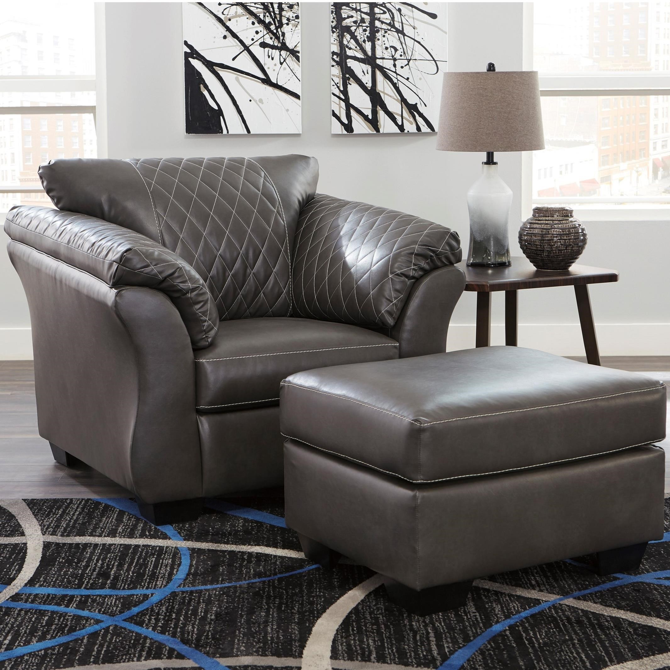 Contemporary Chair and Ottoman Set