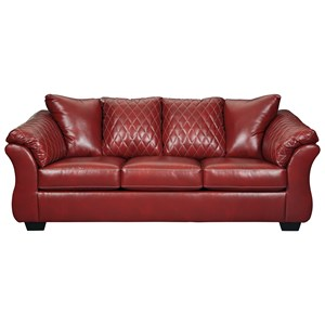 Contemporary Full Sofa Sleeper with Padded Arms