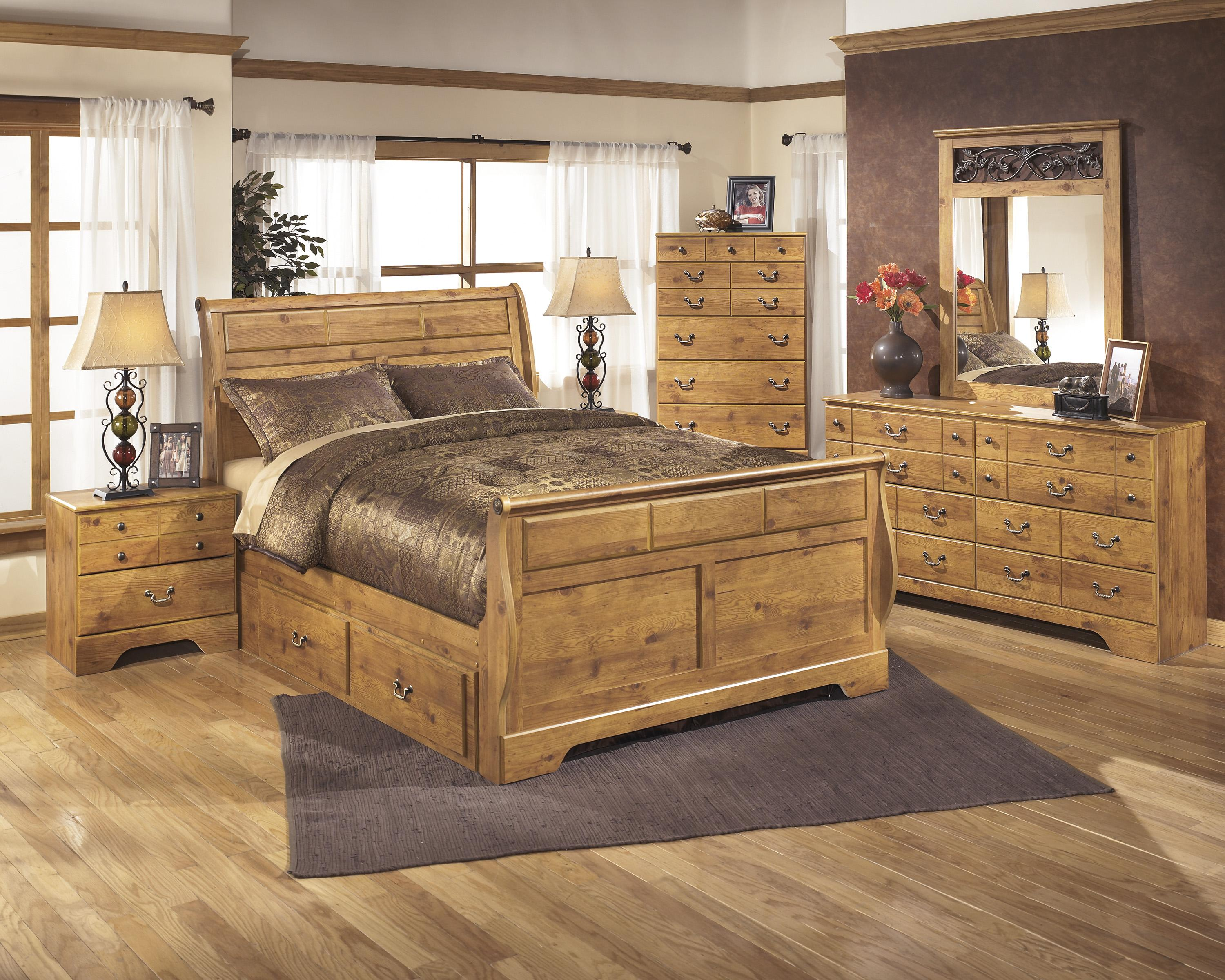king sleigh bed with under bed storage by signature design by