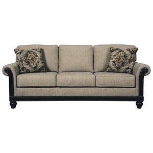 Transtional Queen Sofa Sleeper with Memory Foam Mattress