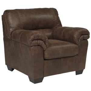 Casual Faux Leather Chair