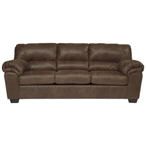 Casual Faux Leather Full Sofa Sleeper