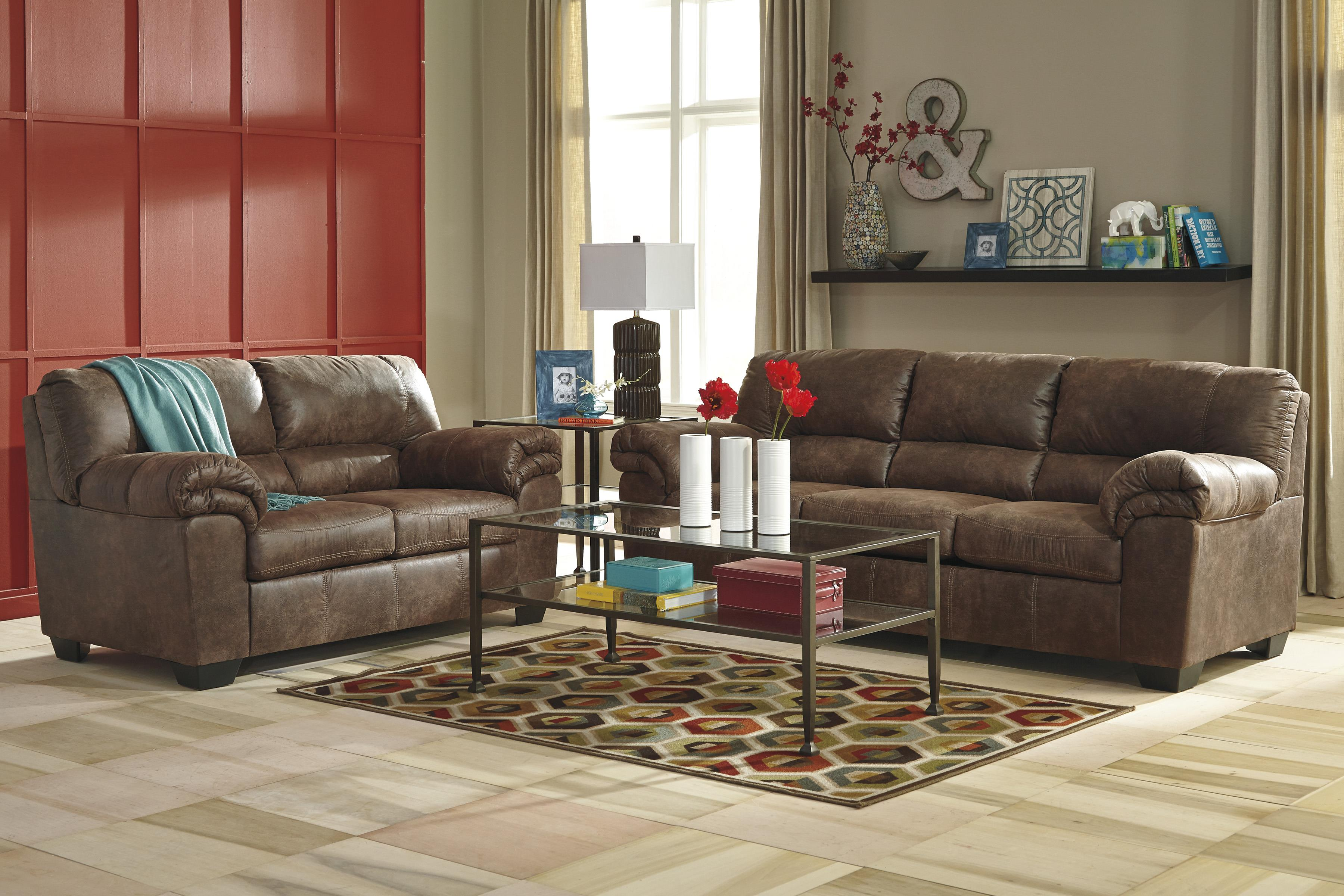 Casual Faux Leather Sofa By Signature Design By Ashley Wolf And