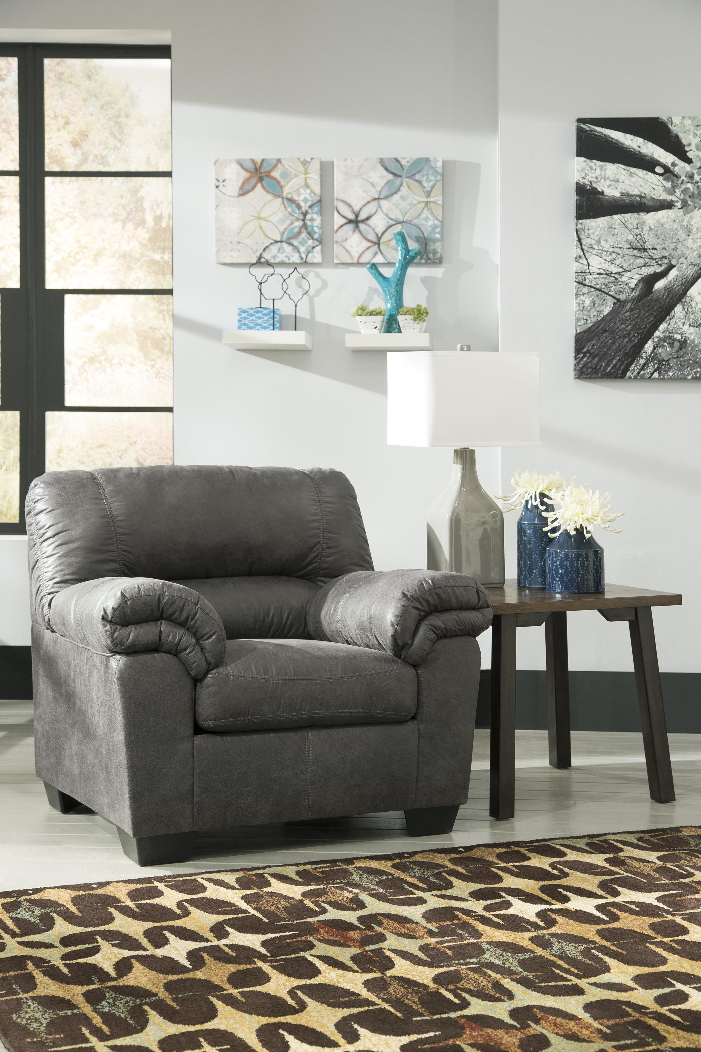 Casual Faux Leather Chair Amp Ottoman By Signature Design By