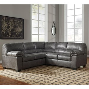 Two Piece Faux Leather Sectional