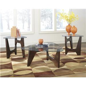 Signature Design by Ashley Blanca 3-in-1 Pack Occasional Table Set