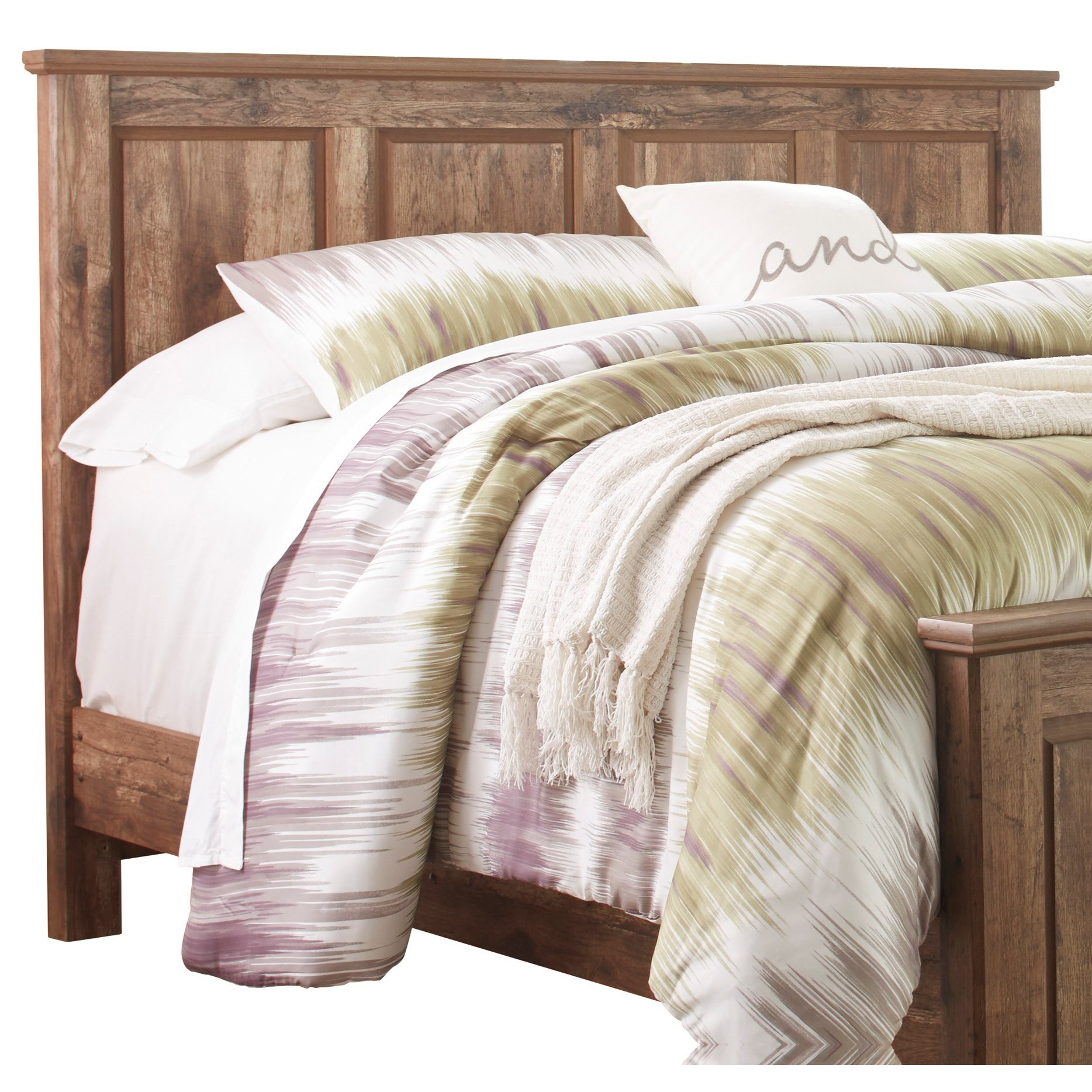 Rustic Style King/Cal King Panel Headboard by Signature Design by Ashley : Wolf and Gardiner ...