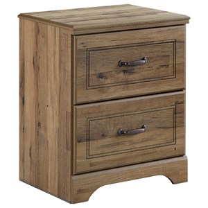 Two Drawer Night Stand with USB Charging Ports