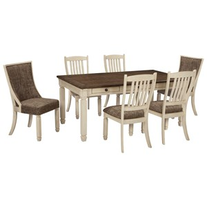Relaxed Vintage 7-Piece Table and Chair Set