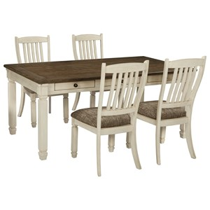 Relaxed Vintage 5-Piece Table and Chair Set