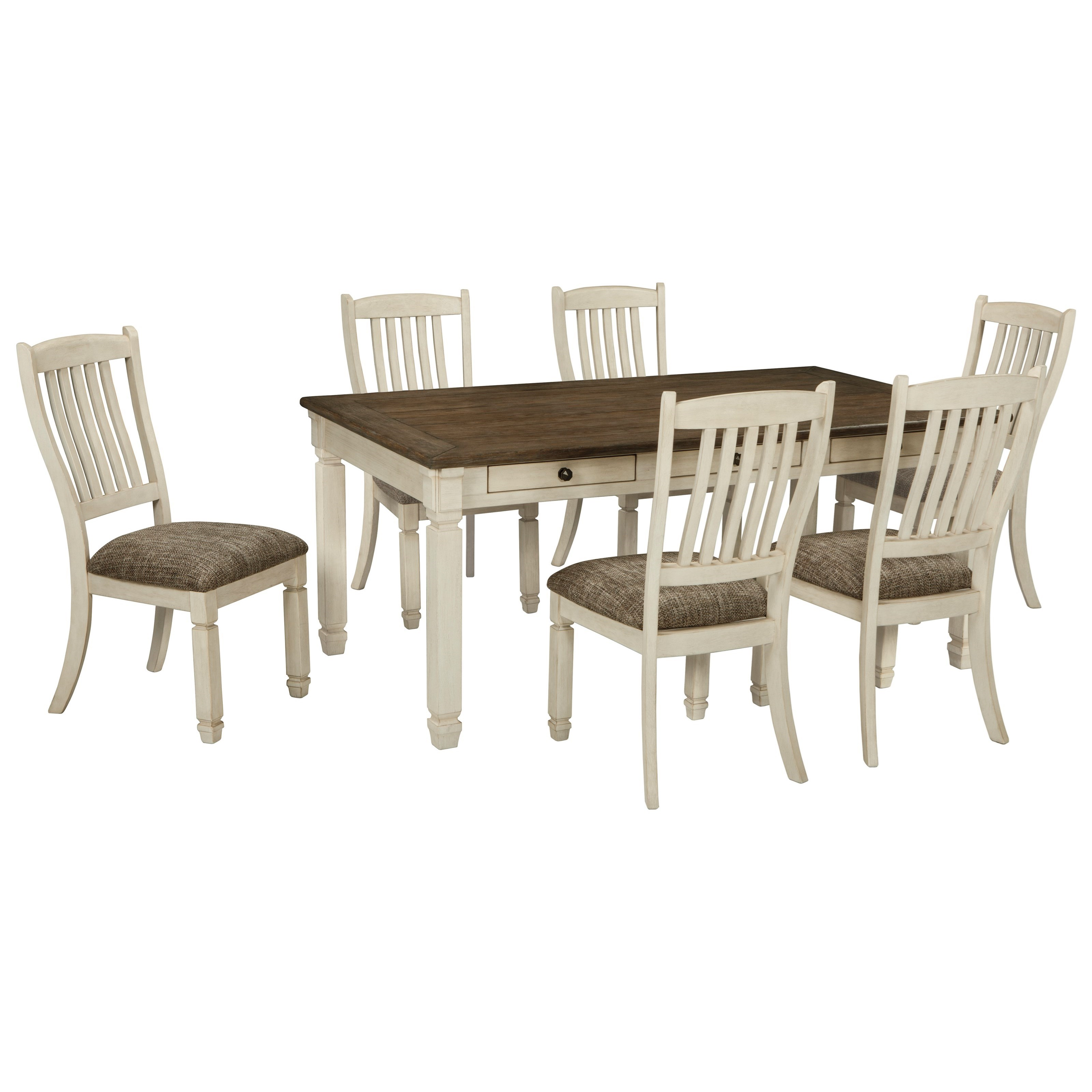 50f2260e446c Relaxed Vintage 7-Piece Table and Chair Set. Low price guarantee badge by Signature  Design by Ashley