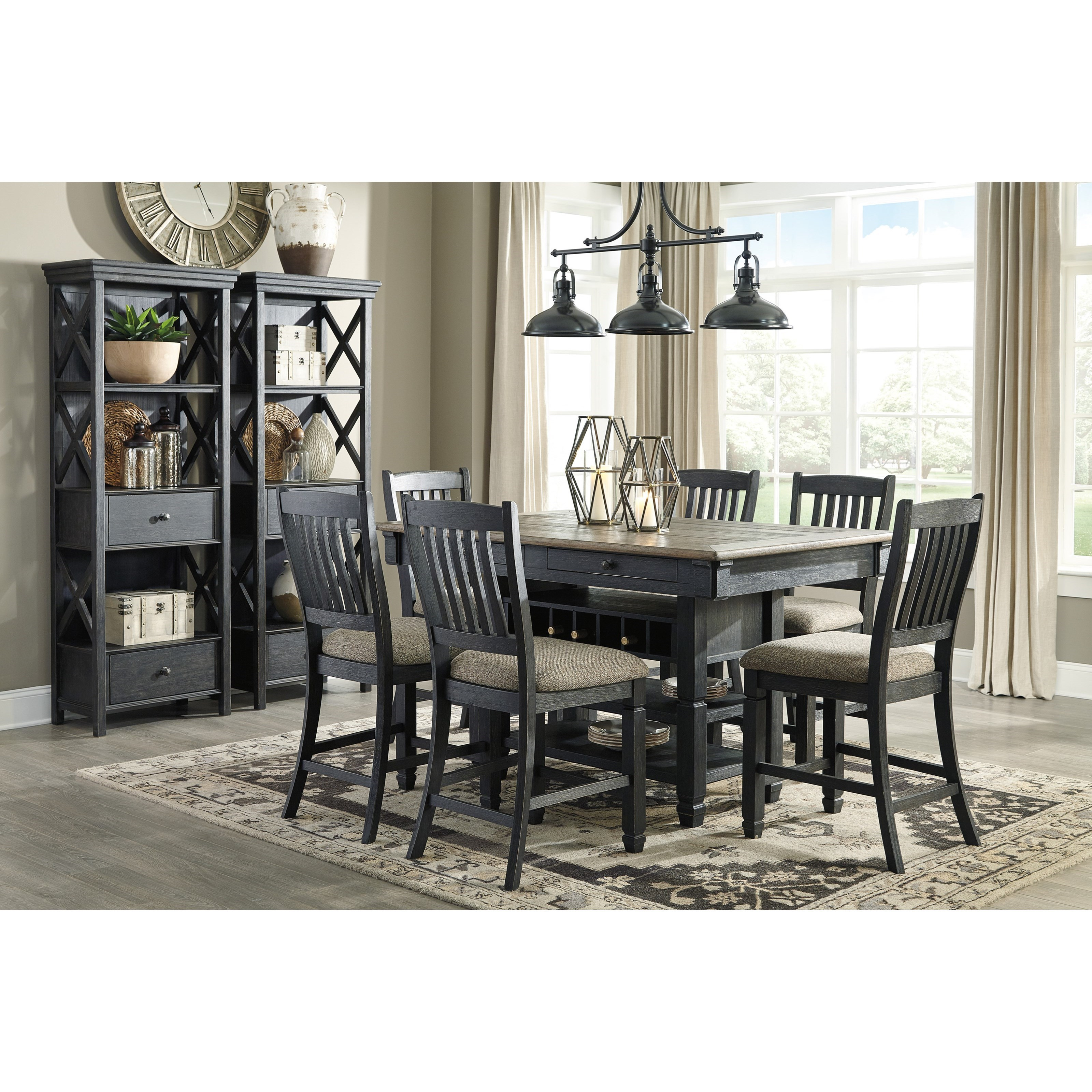 Rectangular Dining Room Tables: Relaxed Vintage Rectangular Dining Room Counter Table With