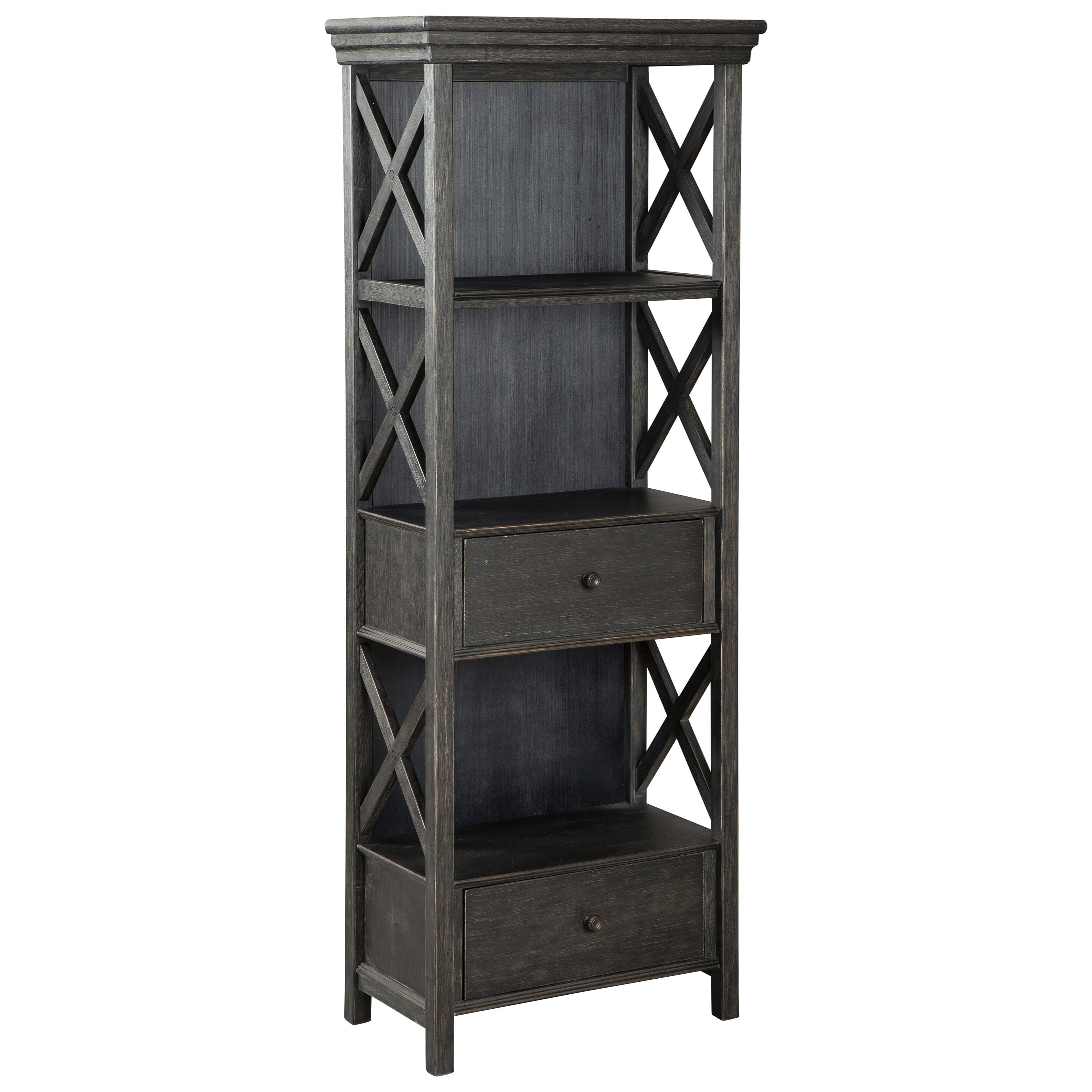 Relaxed Vintage Display Cabinet with Drawers