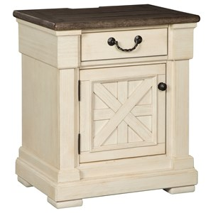 1-Drawer Nightstand with Built-In Outlets & USB Chargers