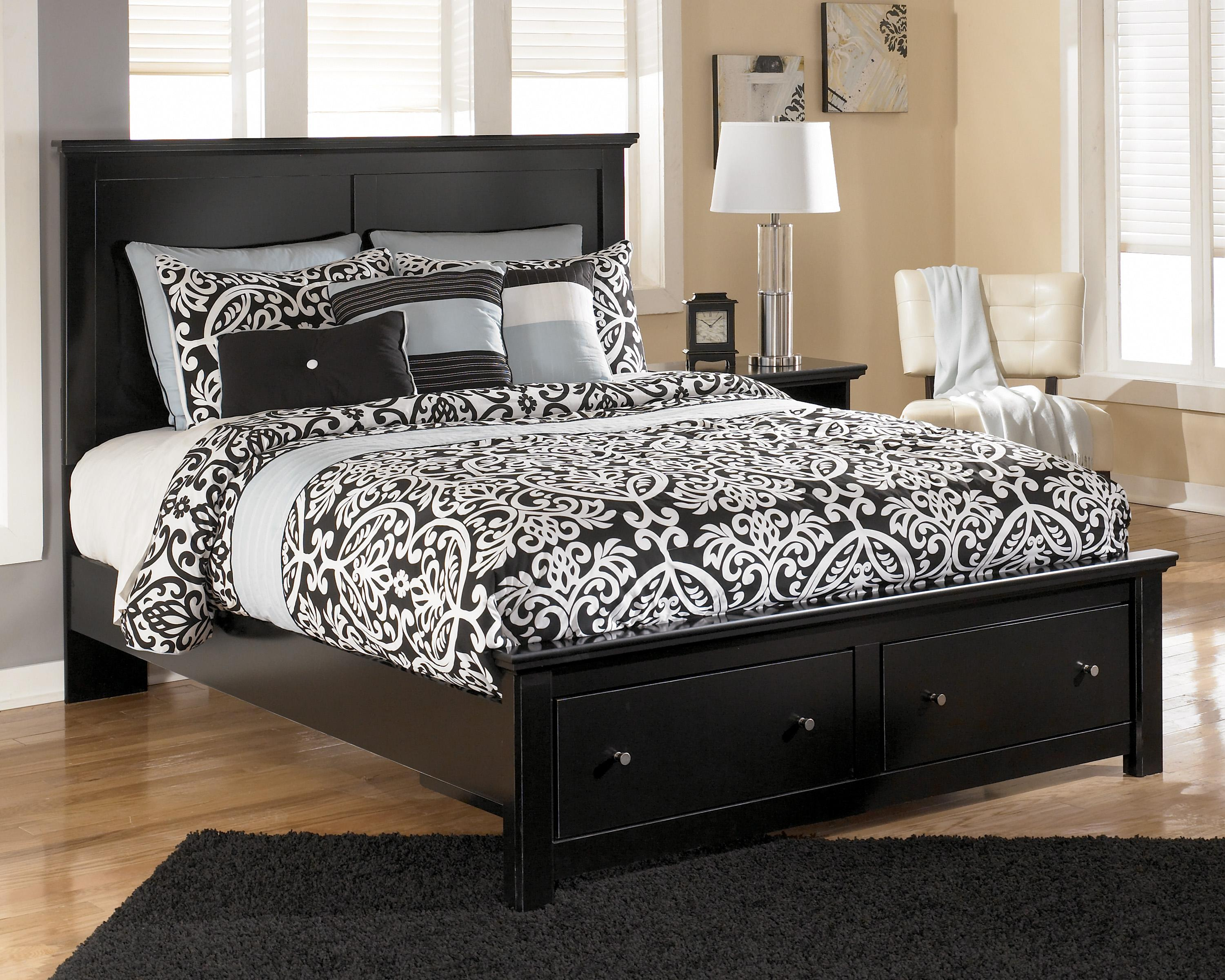 Queen Storage Bed with 2 Footboard Drawers by Signature Design by ...