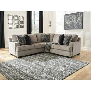 2-Piece Sectional with Track Arms