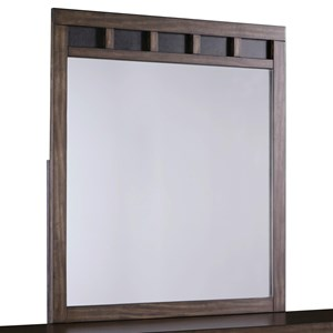 Two-Tone Bedroom Mirror with Slat Detail