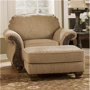 Signature Design by Ashley Furniture Cambridge - Amber Chair & Ottoman