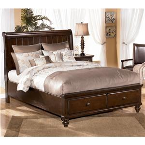Signature Design by Ashley Camdyn Queen Sleigh Bed with Storage