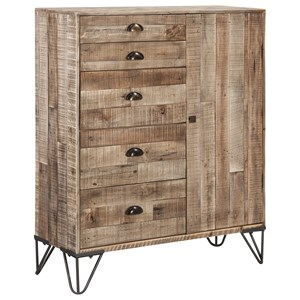 Industrial 5-Drawer Accent Cabinet